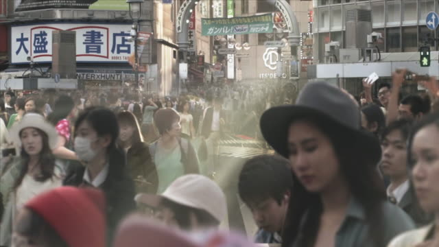 Shibuya Crossing Intersection Crowd Parallax and Cinemagraph Tokyo Japan.