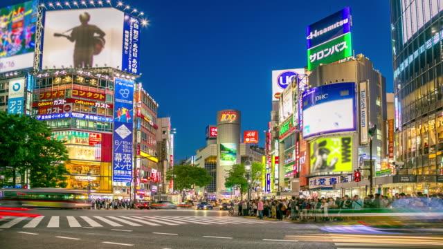 Shibuya Crossing Time Lapse