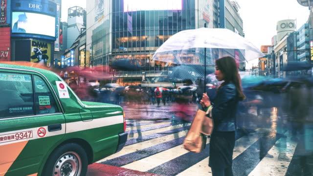 Shibuya kruising time-lapse