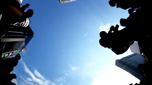 shibuya crossing tokyo - road signal stock videos & royalty-free footage