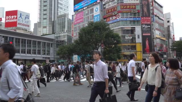 東京、渋谷スクランブル交差点