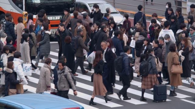shibuya crossing - road signal stock videos & royalty-free footage