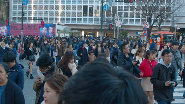 shibuya crossing - road junction stock videos & royalty-free footage