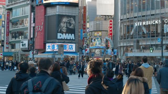 shibuya crossing - crossing stock videos & royalty-free footage