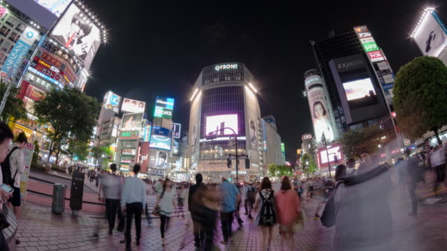 t/l, ws, shibuya crossing. - wide angle stock videos & royalty-free footage