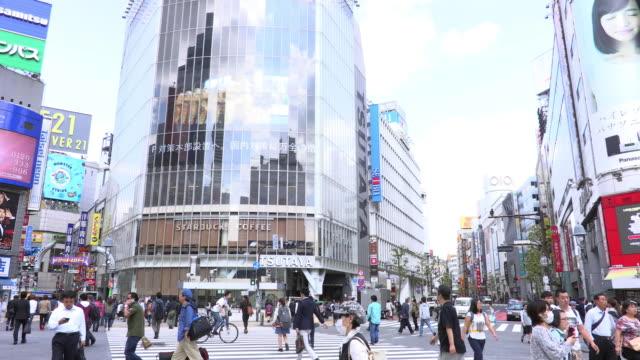 shibuya crossing - insel honshu stock-videos und b-roll-filmmaterial