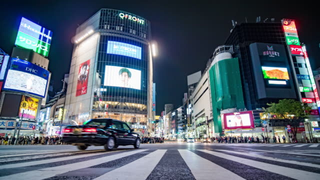 shibuya low angle view - population explosion stock videos & royalty-free footage