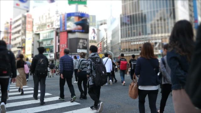 shibuya walking - super slow motion stock videos & royalty-free footage