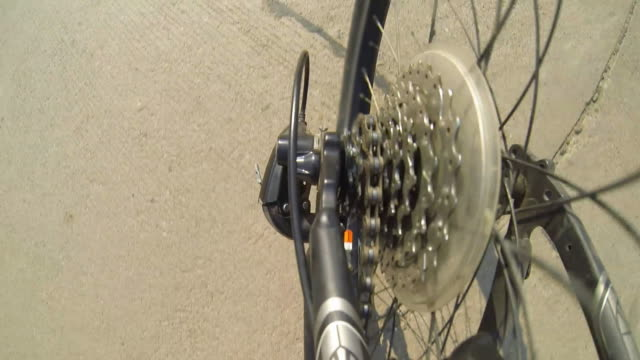 shift bicycle gear on mountain bike - racing bicycle stock videos and b-roll footage