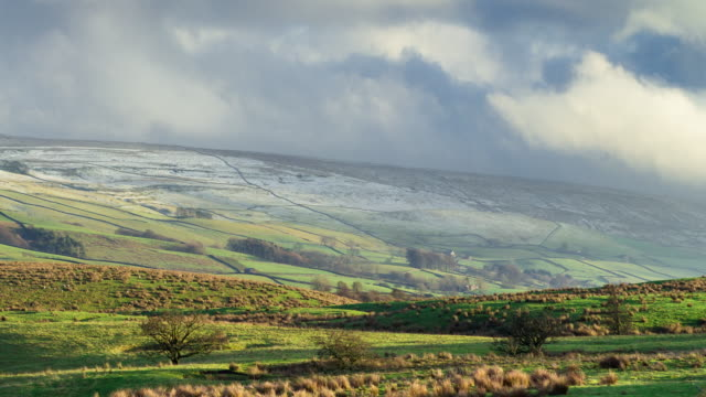 shifting light in the ribble valley - beauty in nature stock videos & royalty-free footage