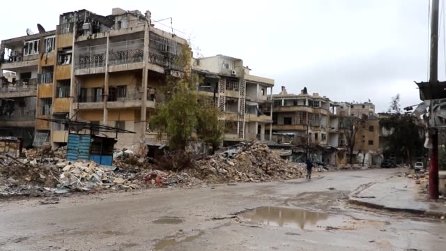 shiite militias under iranian command play a huge role in syria, especially aleppo. local sources tells their role to journalist in aleppo, syria on... - shi'ite islam stock videos & royalty-free footage