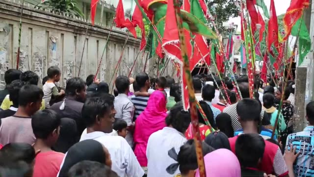shiite muslims take part in a mourning procession marking the day of ashura in dhaka bangladesh on october 12 2016 shiite muslims are observing the... - imam hussein stock videos and b-roll footage