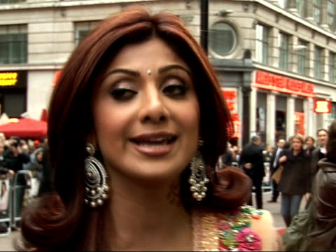 shilpa shetty attends premiere of her new film 'life in a metro' shilpa shetty interview sot so happy and overwhelmed proud an indian movie is here... - premiere video stock e b–roll