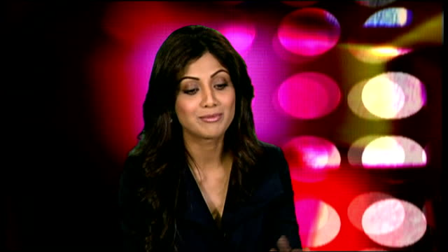 london int shilpa shetty interview sot on being a selfconfessed foodie / on her new range of readymade indian meals - foodie stock videos and b-roll footage