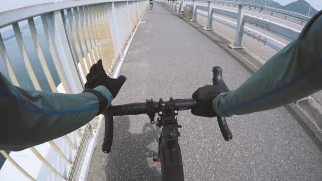 shimanami kaido cycling in japan - nishiseto expressway stock videos & royalty-free footage