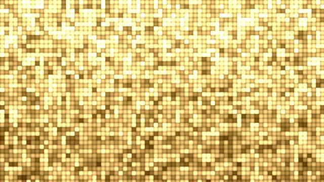 シマーゴールドグリッターブロック背景ストックビデオ4k - gold colored点の映像素材/bロール