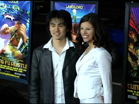 shin kayamaba and guest at the 'kung fu hustle' los angeles premiere at arclight cinemas in hollywood california on march 29 2005 - arclight cinemas hollywood stock videos and b-roll footage