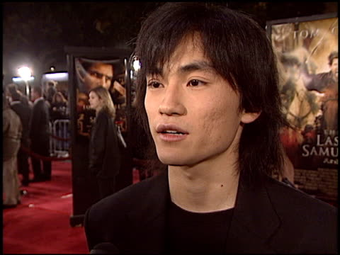 shin koyamada at the premiere of 'the last samurai' on december 1, 2003. - shin koyamada stock videos & royalty-free footage