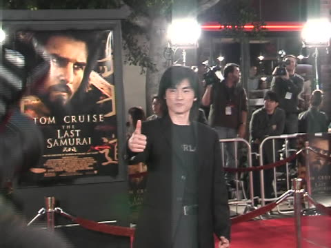 shin koyamada at the the last samurai los angeles premiere at manns village theater, westwood in westwood, california. - shin koyamada stock videos & royalty-free footage