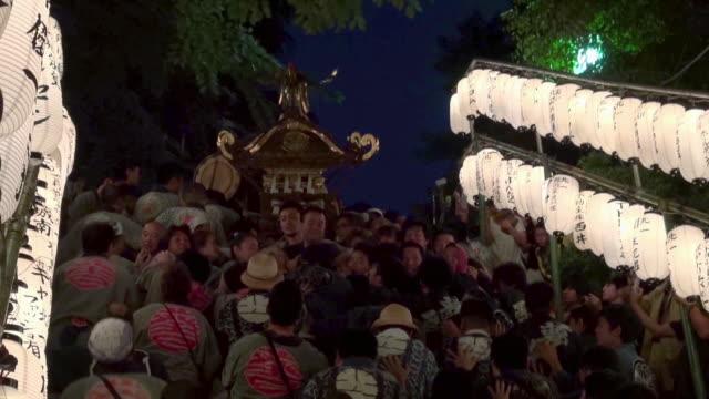 shinagawa shrine fest - 伝統行事点の映像素材/bロール