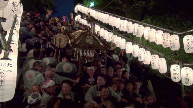 vidéos et rushes de shinagawa shrine fest - sanctuaire