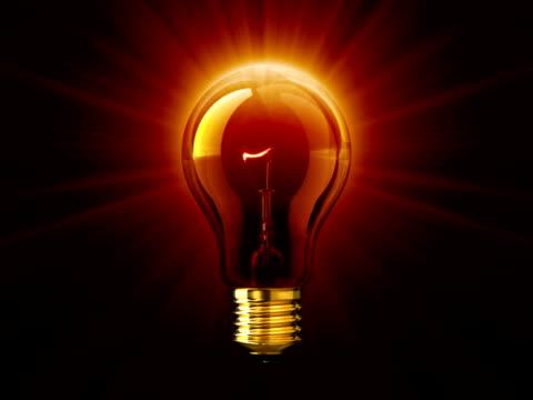 luce di lampadina (pal - meno di 10 secondi video stock e b–roll
