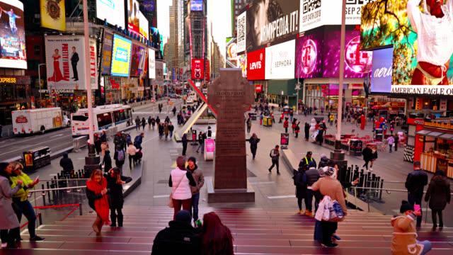 vídeos de stock, filmes e b-roll de brilhar times square - estado de nova york