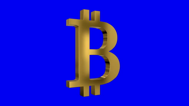 Shiney Spinning Bitcoin Sign Screen