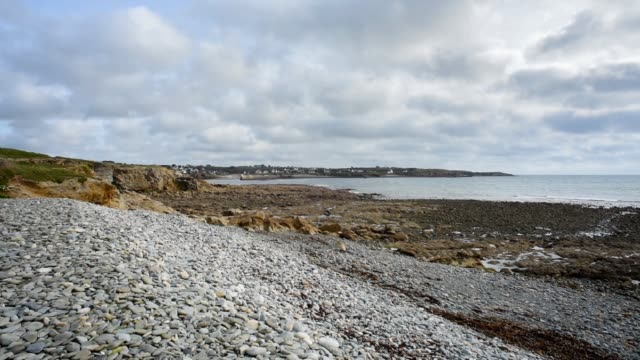 Shingle and rocky beach at Le Loc'h, Finistere