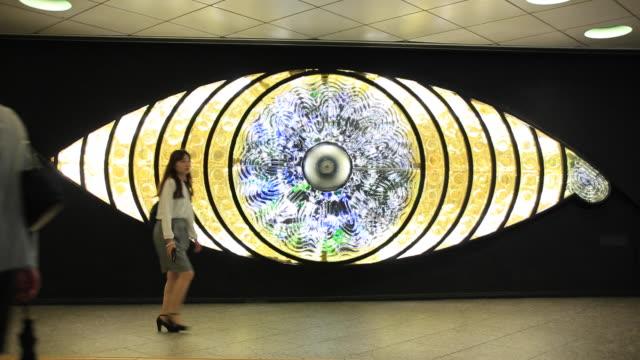 shinjuku art monuments - circles stock videos and b-roll footage