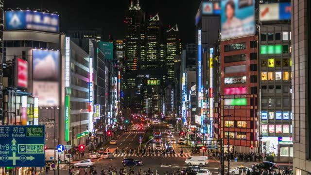Shinjuku traffic at night