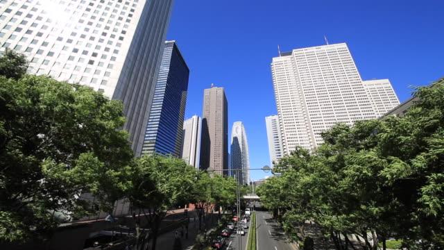 shinjuku urban buildings - オフィスビル点の映像素材/bロール