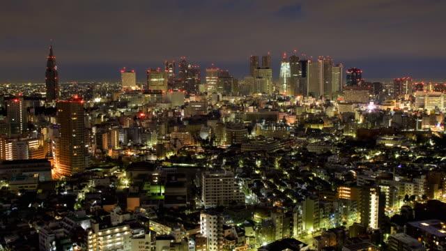 T/L WS HA Shinjuku with night to day transition, Tokyo, Japan