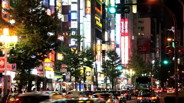 shinjyuku kabuki-cyo at night in tokyo - plusphoto stock videos & royalty-free footage