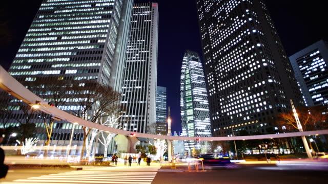 vídeos de stock e filmes b-roll de shinjyuku night view - bairro de shinjuku