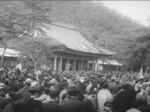 shinto idols and shrines in old japan - shrine stock videos & royalty-free footage