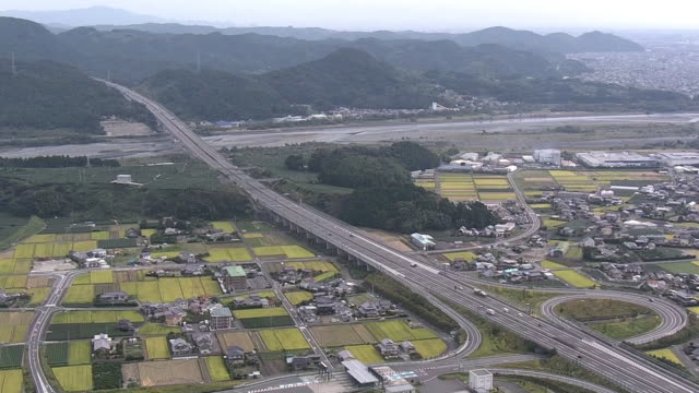 aerial, shin-tomei expressway, shizuoka, japan - shizuoka prefecture stock videos and b-roll footage