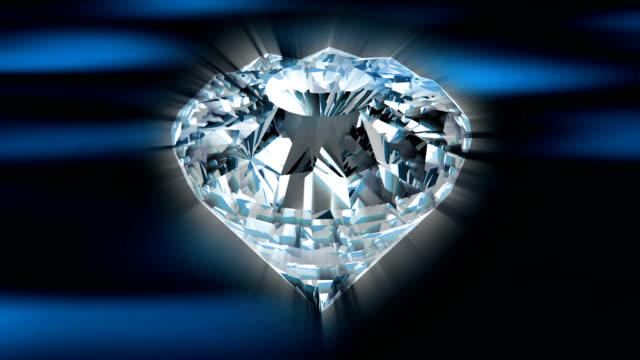 shiny black diamond - loop - stone object stock videos & royalty-free footage