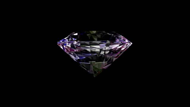 shiny diamond spinning rotate. seamlessly loopable. - diamond gemstone stock videos and b-roll footage