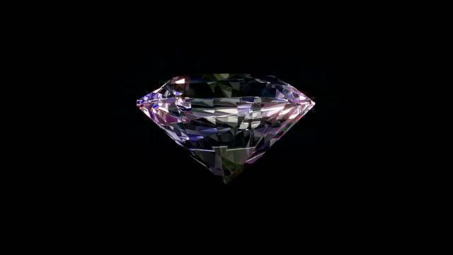 光沢のあるダイヤモンド回転を回転します。シームレスにループ可能。