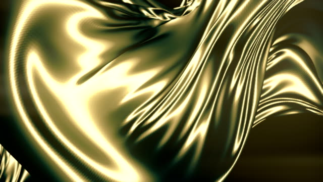shiny metallic flying cloth for decoration design. abstract gold background. video design element. 3d rendering. 4k, ultra hd resolution - design element stock videos & royalty-free footage
