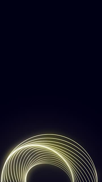 stockvideo's en b-roll-footage met glanzende spiraal neon cirkels gevormd animatie stock video - omgeven
