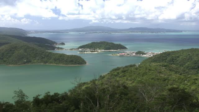 shioya bay in ogimi, okinawa, japan - okinawa prefecture stock videos & royalty-free footage