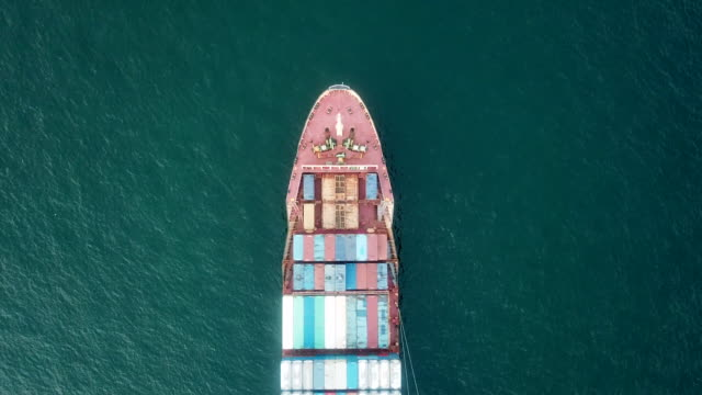 ship aerial view - wake water stock videos & royalty-free footage