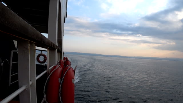 ship and sea, sky view