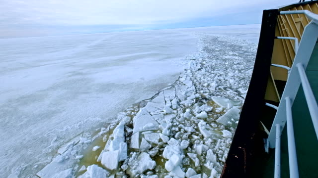 ship breaking through ice ocean - social gathering stock videos & royalty-free footage