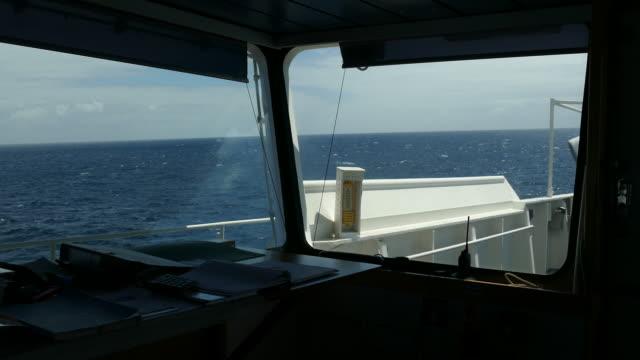 ship bridge - ship's bridge stock videos & royalty-free footage
