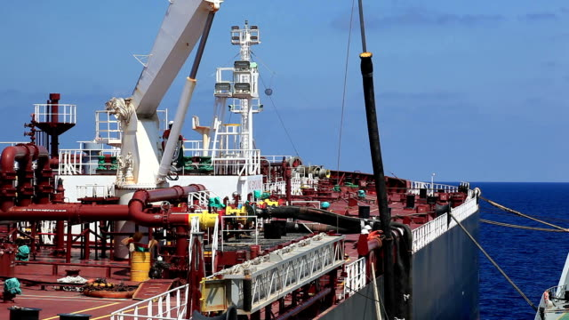 ship bunkering operation - oil rig boat stock videos & royalty-free footage