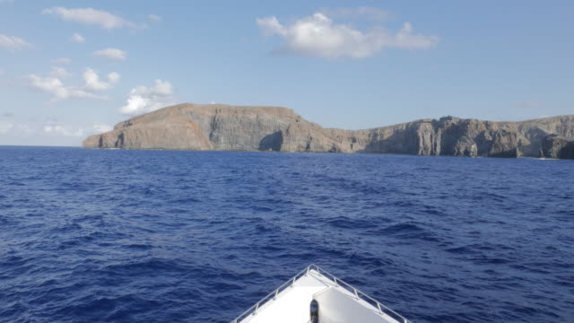 Ship cruising, San Benedicto, Revillagigedo Islands