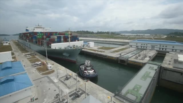 A ship from Hong Kong with a capacity for 13000 containers became the biggest yet to pass through the Panama Canal on Tuesday after it underwent...